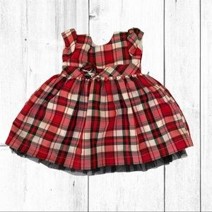 Carters Plaid Holiday Dress Size 12 Months